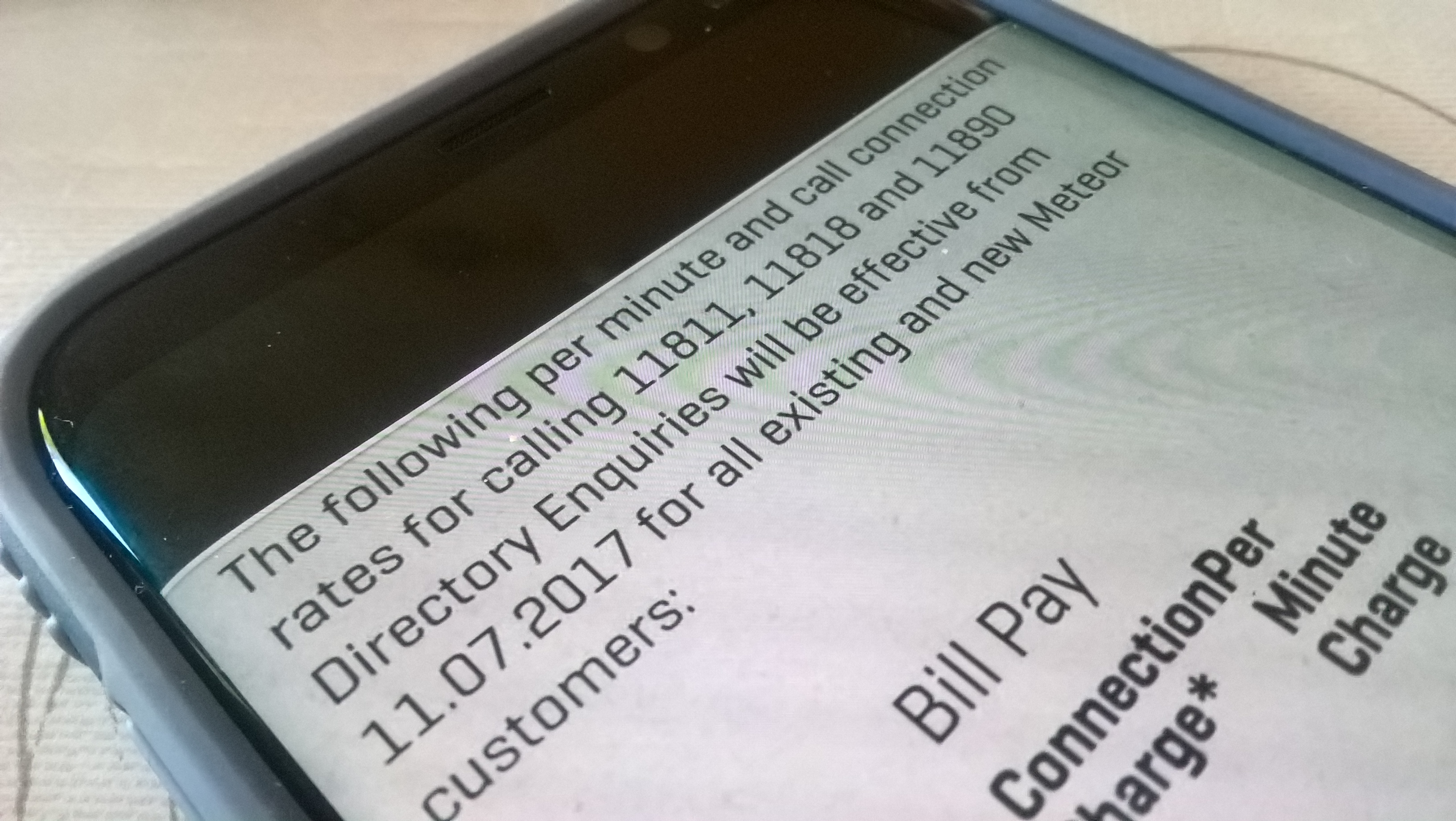 More charges for the mobile customer in Ireland  Directory Enquiries