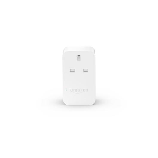 Amazon Smart Plug, White, Front On