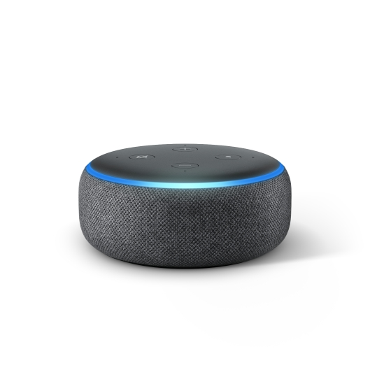 Echo Dot, Charcoal, Front On