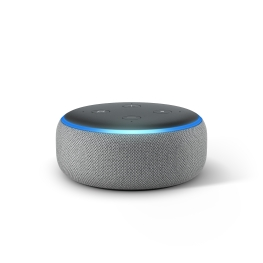 Echo Dot, Heather Gray, Front On