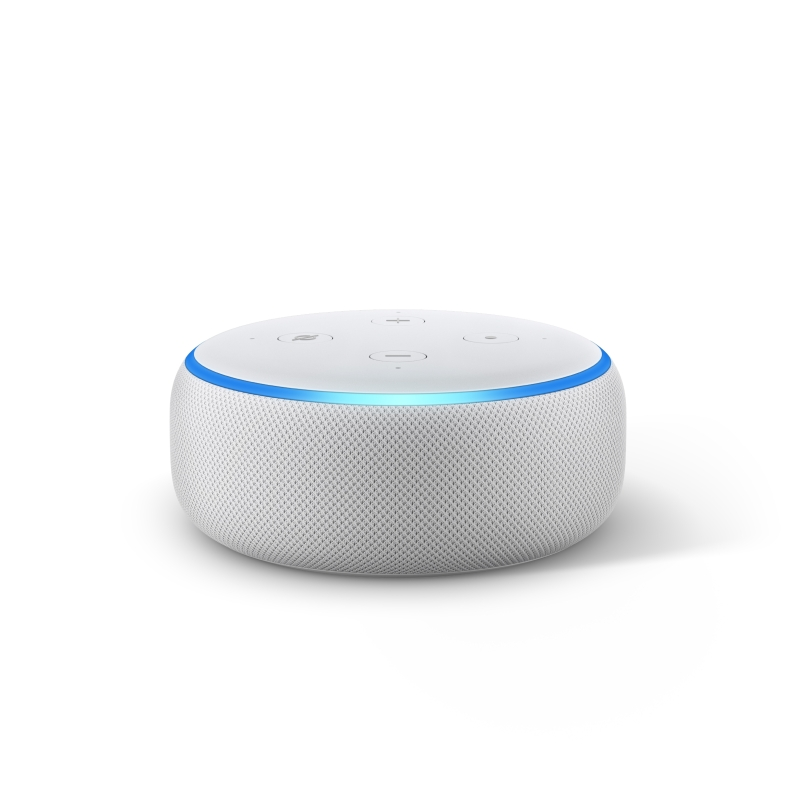 Echo Dot, Sandstone, Front On