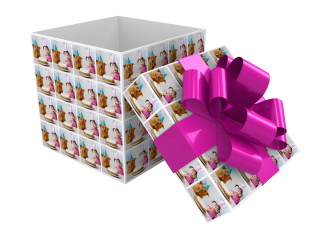 gift wrapping box white