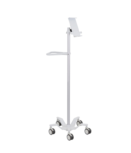 24-818-211 Pole Cart Tablet Holder lft facing-hr